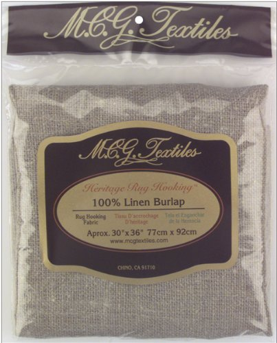 M.C.G. Textiles Fabric for Rug Hooking Punch Needle Linen Burlap Fabric Cut, 30 by 36-Inch (Monks Cloth compare prices)