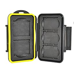 TPF Water-Resistant Tough Storage Memory Card Case Protector For 3 XQD and 2 CF Cards