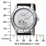 Bulova Men's 96A111 Mechanical Hand-Wind Automatic Strap Silver White Dial Watch