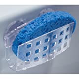 InterDesign Sink Works Sponge Holder, Clear