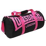LONSDALE London Barrel Bag Holdall Gym Sports Black/Pink