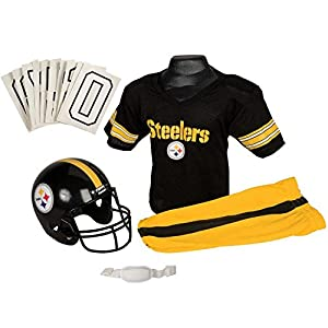 Franklin Sports NFL Pittsburgh Steelers Deluxe Youth Uniform Set, Small