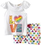 Carters Watch the Wear Girls 2-6X Love Design Top with Shorts Set