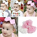 Baby Girl Headband Rose Bow Lace Hair...