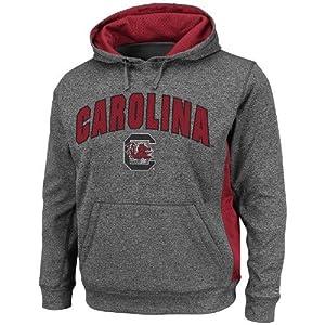 South Carolina Gamecocks NCAA Keystone Pullover Hooded Sweatshirt - Charcoal by Colosseum