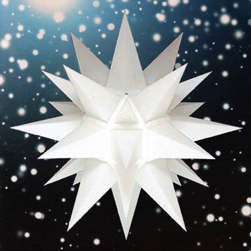 Weihnachtsstern, Adventsstern, original Herrnhut, für Außen, Kunststoff, 40 cm, mit Beleuchtung, Stern, Sterne, Weihnachtssterne, Adventssterne, original Herrnhuter Stern, weiß