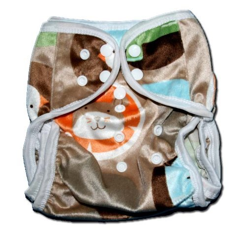 "One Size Fit All- Diaper Covers for Prefolds or Regular Inserts PUL MINKY - FARM by ""BubuBibi"""