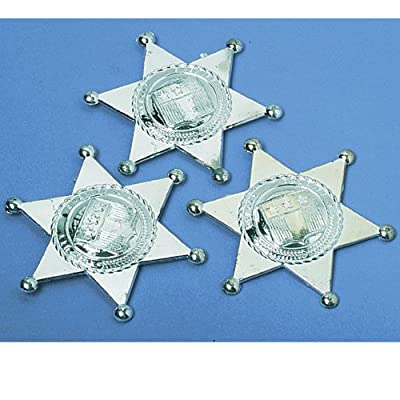 Us Toy Mens Silver Sheriff Badges