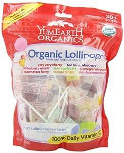 (好评)YummyEarth Organic Lollipops, Assorted Flavors有机什锦棒棒糖4包SS$20.79