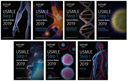 USMLE Step 1 Lecture Notes 2019  7-Book Set (Kaplan Test Prep) [Kaplan Medical] (Tapa Blanda)