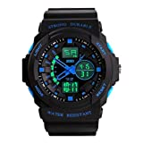 Mens Sport LED Wrist Watch Military Multi Function Waterproof Digital LCD Alarm Date