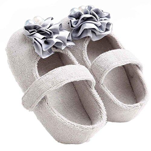 Chaussures de bébé,Fulltime® Bébé Fleur Perle Toddler Princesse filles Kid Shoes