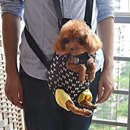 SJ- Lovely Bowknot Pattern Front Backpack Bag Pet Carrier for Dogs (S-XL) , L
