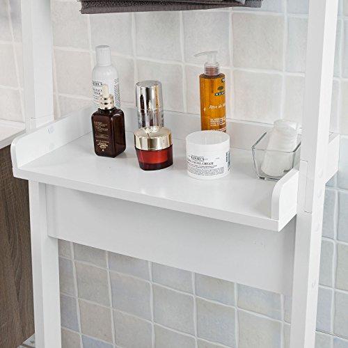 SoBuy® Mueble para baño WC, estantería de baño de MDF, Toalleros