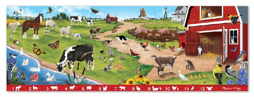 Melissa & Doug Search And Find Sunny Hill Farm 48 Piece Floor Puzzle back-364546