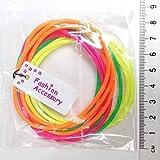 Paquete de 12 Neón Masticable Brazaletes / Brillante Pulseras / Pulseras De Goma - genial llenadoras de bolsa partido y 80s accesorios de disfraz