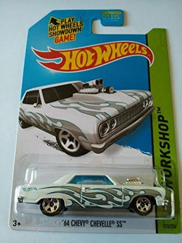 2014 Hot Wheels Hw Workshop '64 Chevy Chevelle SS - White - 1