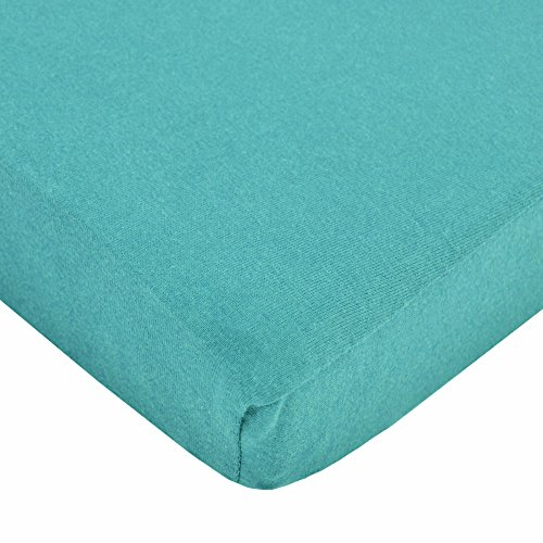 TL Care Supreme 100% Jersey Knit Crib Sheet, Turquoise (Crib Sheet Turquoise compare prices)