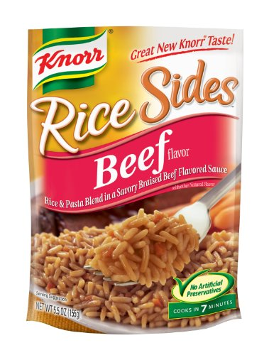 Knorr/Lipton Rice Sides, Beef, 5.5-Ounce Packages (Pack Of 12)