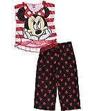 Minnie Mouse Little Girls' Stripe & Capri 2-Piece Pajamas
