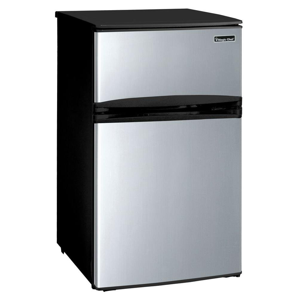 Magic Chef 3.1 cu. ft. Mini Refrigerator in Stainless Look
