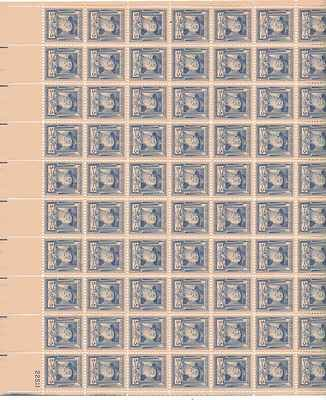 Walt Whitman Sheet of 70 x 5 Cent US Postage Stamps NEW Scot 867