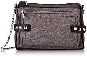 BCBGeneration Noah The Make A Statement Shoulder Bag,Heather Grey,One Size