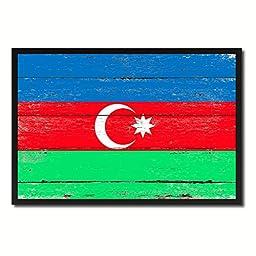 Azerbaijan National Shabby Chic Flag Art Canvas Print Wall Home Décor Interior Design Souvenir Gift Ideas