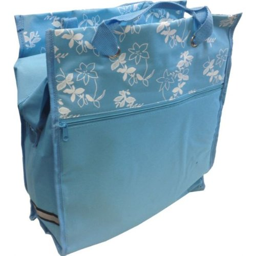Bike (Fahrrad-) Shopper Pannier Bag 2-In-1-Pastell Aqua