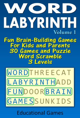 Word Labyrinth: Fun Brain-Building Games For Kids and Parents.30 Games and Puzzle Word Scramble . 3 Levels (Educational Games)