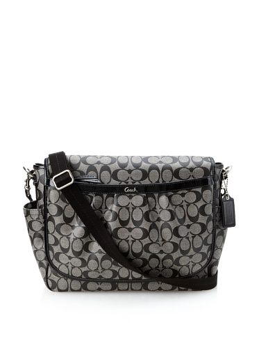 Coach Coated Canvas Messenger Baby Bag, Black