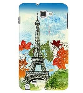 PrintVisa Travel Paris 3D Hard Polycarbonate Designer Back Case Cover for Samsung Galaxy Note 2