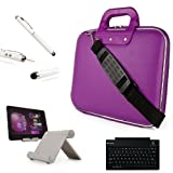 Fashion Leather Hard Shell Cube Bag For Amazon Kindle Fire HD HDX 8.9 inch Tablet + Bluetooth Keyboard + Metal Stand + Stylus Pen