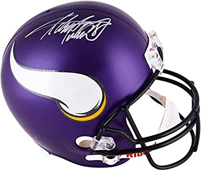 Adrian Peterson Minnesota Vikings Autographed Riddell Replica New Logo Helmet - Fanatics Authentic Certified