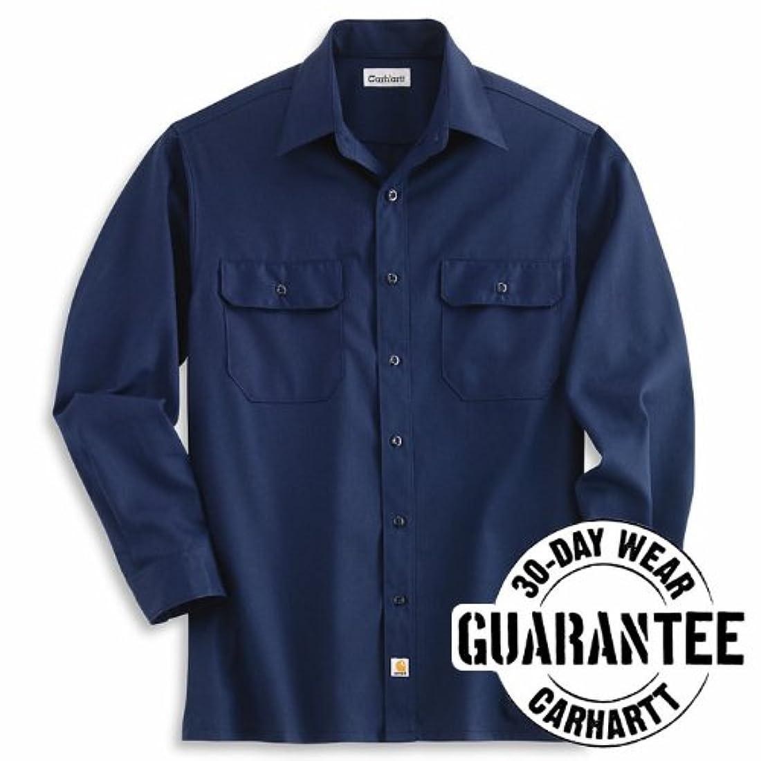 Carhartt sportswear mens s224 nvy twill long sleeve work for Carhartt men s chamois long sleeve shirt