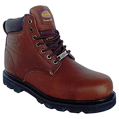 Amazon.com La Vega 8639 Mens Brown Leather Insulated Non Slip Steel Toe Work Boots Shoes
