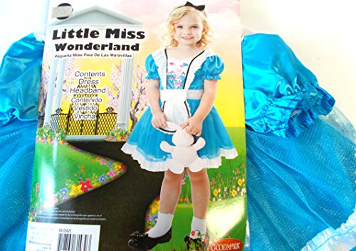 Little Miss Wonderland Alice Child Toddler Costume 3-4T NIP