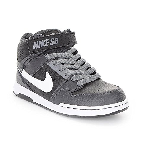Nike Kids Mogan Mid 2 Jr B Skate Shoes (3, Black/Anthracite) (Nike Mogan Mid 2 Jr compare prices)