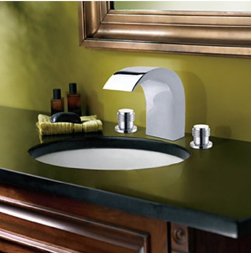 Groovy Elegant Widespread Chrome Finish Waterfall Bathroom Basin Ibusinesslaw Wood Chair Design Ideas Ibusinesslaworg