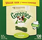 GREENIES Original Canine Dental Chews - TEENIE Treats Size - Value Tub (36 oz.) - 130 Count