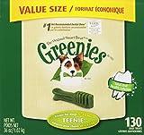 GREENIES Original Canine Dental Chews - TEENIE Treats Size - Value Tub (36 oz.) - 130 Count