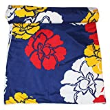Frabjous Floral Polycotton Single Size Dohar (Blue)