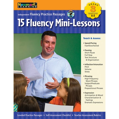 Fluency Mini-Lessons Grade 3 With Audio Cd (Independent Fluency Practice Passages) front-1066323