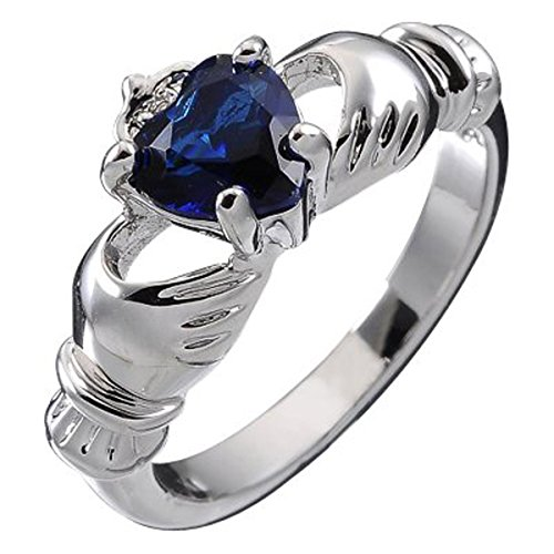 10k-white-gold-filled-irish-claddagh-september-birthstone-with-sapphire-blue-4-prong-set-9mm-2ct-cz-