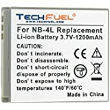 Canon PowerShot ELPH 300 HS Digital Camera Replacement Battery - TechFuel Professional NB-4L Battery
