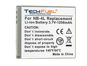 Canon PowerShot ELPH 300 HS Digital Camera Replacement Battery - TechFuel Professional NB-4L Battery