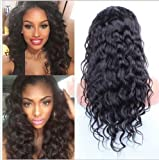 "Remeehi 12""-22"" Charming Malasyian Sexy Wavy 100% Brazilian Human Remy Hair Lace Front Wigs for Black Women"