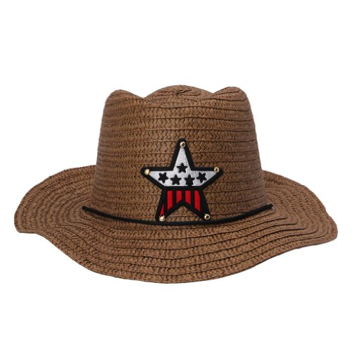 JTC Child Beach Straw Cowboy Cowgirl Hat 10 Colors