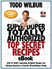 Super Duper Totally Authorized Top Secret Recipes eBook