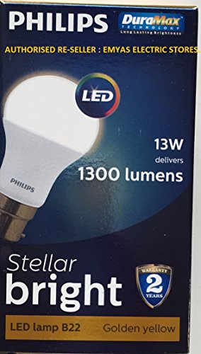 Steller-Bright-13W-1400L-LED-Lamp-(Warm-White)